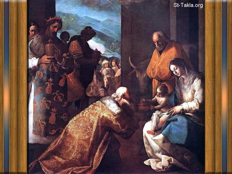 St-Takla.org Image: Adoration of the Magi painting ���� �� ���� ������ ����: ���� ����� ������ ������