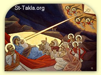 St-Takla.org Image: Modern Coptic art: icon of Nativity of Jesus Christ ���� �� ���� ������ ����: ���� ������ ����� ����� �� ����� ����� ������