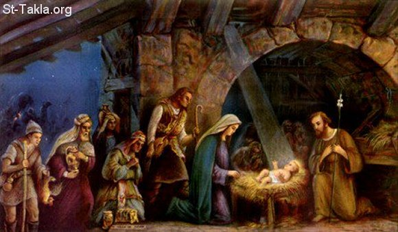St-Takla.org Image: The Adoration of the Magi to Baby Jesus ���� �� ���� ������ ����: ����� ������ ����� ������