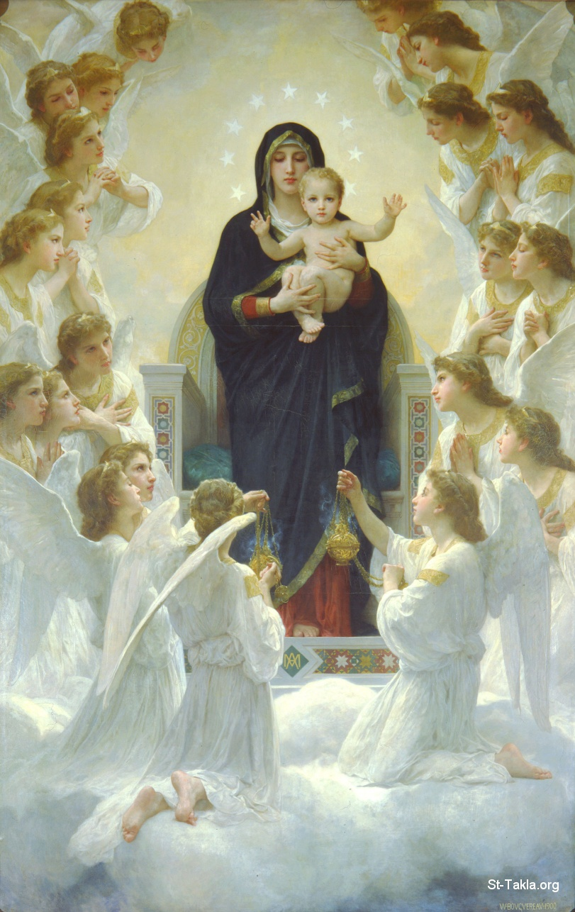 St-Takla.org Image: Painting: The Virgin and the Angels by William Bouguereau, 1900 ���� �� ���� ������ ����: ���� ������� ��������ɡ ������ ����� ������ 1900