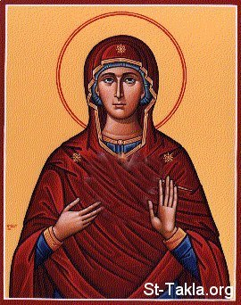St-Takla.org Image: Icon of El 3athra2 Maryam, St. Mary ���� �� ���� ������ ����: ������ ���� ���� �������
