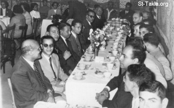 St-Takla.org Image: The late Mr. Youssef Habib (far left) in a cerebration in the fifties of the 20th century ���� �� ���� ������ ����: ������� ���� ���� ���� ��� ��� �� ������ �� ��� �� ��������� �� ����� ������