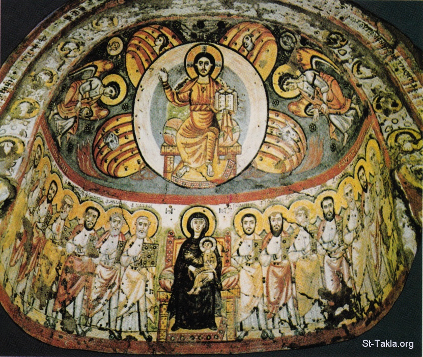 St Takla.org  12 Apostles  12 Depiction Of Christ Enthroned Monastery Of Apollo In Bawit Egypt